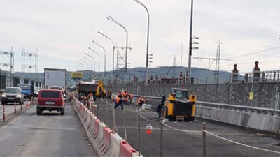 ремонт дороги через Жигулевскую ГЭС